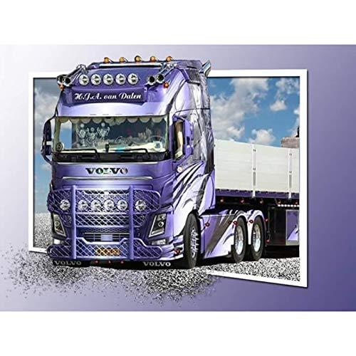 Puzzle 1000 piezas Pintura púrpura de la decoración de la pintura del regalo del arte de la imagen del camión puzzle 1000 piezas adultos Gran ocio vacacional, juegos interacti50x75cm(20x30inch)