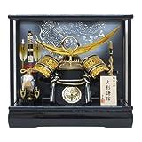 京寿 10号上杉兜ケース飾りYN31337GKC 五月人形ケース(木製弓太刀) 五月人形 金 兜飾り 鎧飾り ケース入り 上杉謙信