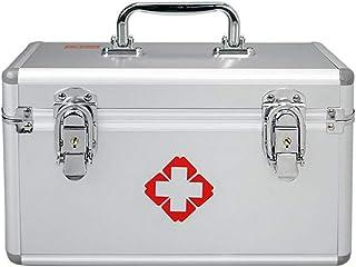 DYHOZZ Aluminum Alloy Medicine Box Enterprise Set Factory School First Aid Box Portable Outpatient Medicine Box (Color : Silver, Size : 35cm×23cm×23cm)