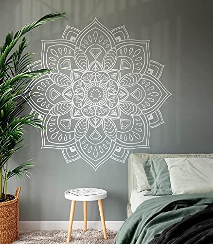 Tamengi Mandala Wall Art Decal, Mandala Vinilo Adhesivo, Yoga Wall Art, Meditación Decoración para Estudio en el hogar, Boho Bohemia Provance Acogedora Ideas 220 22 pulgadas de ancho