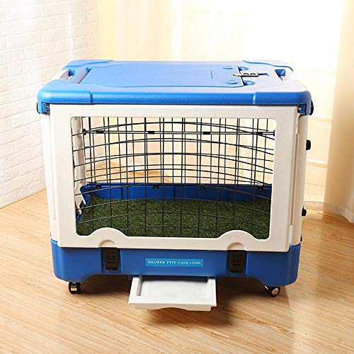 ZJIAWEI Pet Cage, beweglicher Hunderahmen, Multi-Funktions-Folding mit WC Pet Käfig Zaun, Leinwand Haustier Rucksack, et Breathable Travel Bag, for Katze großen Haustier tragbaren Rucksack