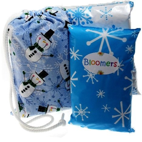 Bloomers Disposable Single Use Diaper / Pullup, Change Kits for Life On The Go! Bright Crazy Dots (infant XSmall 7 to 14 pounds)
