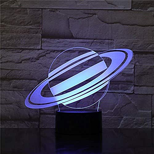 3D Space Planet LED Night Light Touch 7-Color Table lamp Replacement USB Table lamp Children's Gifts Toy Ornaments Christmas Gifts