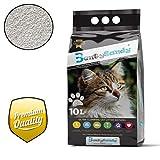 BentySandy Litière Chat 10L Qualité Premium agglomérante, Ultra absorbante aux minéraux bentonite - Parfum Naturel