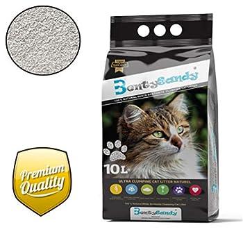 Litière chat 10L Qualité Premium agglomérante, ultra absorbante aux minéraux bentonite - Parfum Naturel - BentySandy