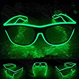 Xuba LED Blinkende EL Leuchtbrille Party Dekorative Beleuchtung Klassisch Geschenk Bright Prop Light Up Party Brille Party Decor Fluoreszierend Grün