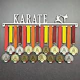 Karate - Colgador de medallas Deportivas - Medallero de Pared Artes Marciales, Karateka - Sport Medal Hanger - Display Rack (600 mm x 100 mm x 3 mm)