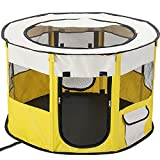 HONGYIFEI2021 Dog Cage Pet Cat Litter Dog Fence Foldable Dog Teepee for Small Dogs Foldable Playpen Indoor Puppy Cage Dog Cages Kennels Rabbit Playpen Pet Crate (Color : G, Size : S(72x72x45))