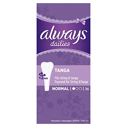 Always Tanga Slipeinlagen Normal, 4er Pack (4 x 36 Stück)