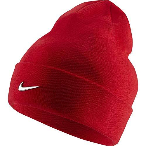 Nike Swoosh Beanie, University Red/Metallic Silver, One Size