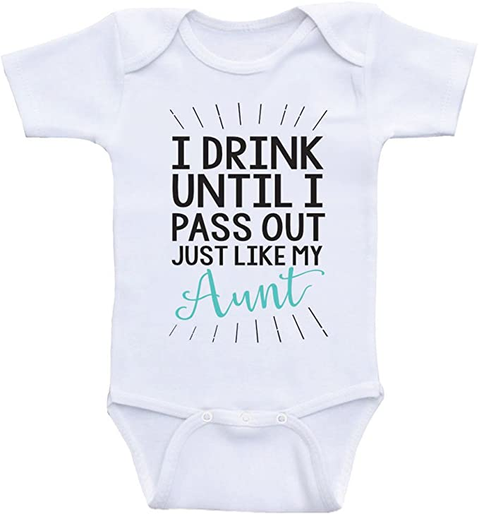 I drink til I pass out funny baby shirt newborn outfit baby saying milk bottle gift babys shower gift unisex girl boy infant clothes shirt