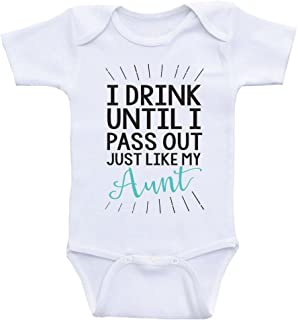 Heart Co Designs Aunt Baby Clothes Drink Until I Pass Out Just Like My Aunt Funny One Piece