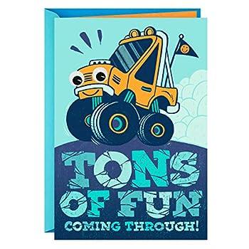 Hallmark Birthday Greeting Card for Kids  Monster Truck Sticker  - 0399RZB1230