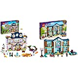 LEGO Friends Grand Hotel Di Heartlake City, Casa Delle Bambole Per Bambini Con 4 Mini Bamboline & Friends Scuola Di Heartlake City, Set Di Costruzioni Per Bambini 6 Anni Con 3 Mini Bamboline