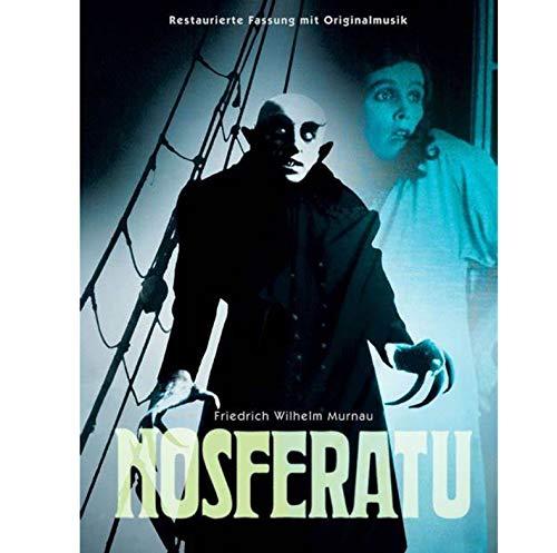 ARTMERLOD Leinwand Poster Nosferatu Filmplakate und Drucke Wandkunst Home Decor Gemälde für Bar Cafe Halloween 50X70Cm No Frame
