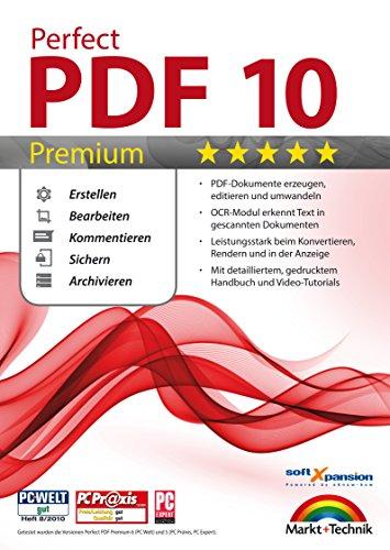 Perfect PDF 10 PREMIUM inkl. OCR Modul PDFs Erstellen, Bearbeiten, Umwandeln, Sichern, Kommentare hinzufügen, Formulare ausfüllen | 100{14de5b0909ec98cf4b79974c17f1d403e5d8c978faeb881b4d35bba2b45ac5a5} Kompatibel mit Adobe Acrobat