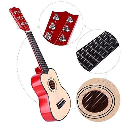 Drfeify 21 Pulgadas Portátil Clásico para Niños Ballad Basswood Guitarra Instrumento de Cuerda