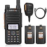 Radioddity GA-510 10-Watt Dual Band Ham Radio Handheld High Power Long Range with 2 Batteries + Programming Cable + RS22 K-Plug Remote Speaker Mic
