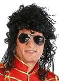 Largo rizado peluca Michael Jackson rey del Pop