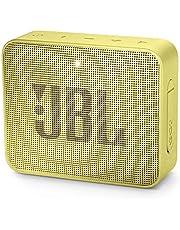 JBL GO 2 draagbare Bluetooth-luidspreker met oplaadbare batterij, waterdicht, ingebouwde luidsprekertelefoon, geel