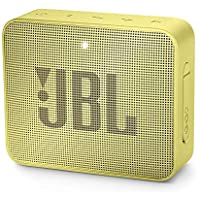 JBL GO 2 - Altavoz inalámbrico portátil con Bluetooth, resistente al agua (IPX7), hasta 5 h de reproducción con sonido de alta fidelidad, amarillo