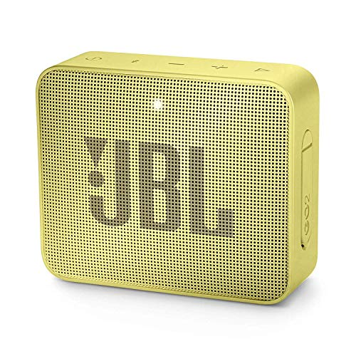 JBL GO 2 – Altavoz inalámbrico portátil con Bluetooth, Parlante resistente al agua (IPX7), hasta 5h de reproducción con sonido de alta fidelidad, Amarillo