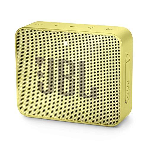 JBL GO 2 Speaker Bluetooth Portatile, Cassa Altoparlante Bluetooth Waterproof IPX7, Con Microfono, Funzione di Noise Cancelling, Fino a 5h di Autonomia, Giallo