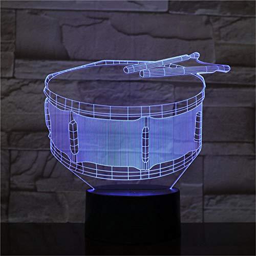 3D Luci Notte Tamburo Dormire Lampada Dell'umore Tocco LED Lampada Da Tavolo Scrivania 16 Cambiare Colore Interruttore Touch Desk Night Light per Bambini Amici Regalo