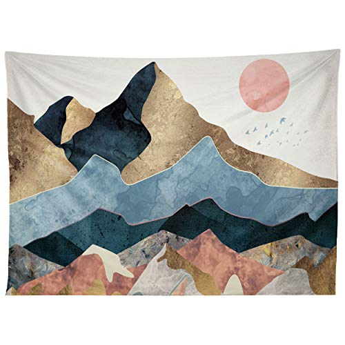 Society6 SpaceFrogDesigns Golden Peaks Tapestry, 50