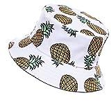 Jazmiu - Sombrero unisex, tipo pescador, de moda, estampado con dibujos de frutas, ideal para...