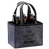 Cepewa Bolsa de fieltro para 6 botellas de 0,33 o 0,5 l