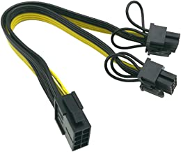 (CPU to GPU) CPU 8 Pin Female to Dual PCIe 2X 8 Pin (6+2) Male Power Adapter Splitter Cable for Graphics Card BTC Miner 9-...