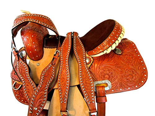 Orlov Hill Leather Co Western Show Seller Pour Chevaux Bling Barrel Racing 15 16 Trail Saddle TACK Set (15)
