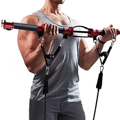 TENSION TONER - Get Lean and Strong - Exercise Important Stabilizer and Pulling Muscles - Patented Gym (Basic - 2 Bands)