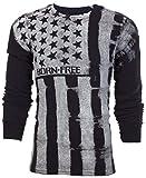 Affliction Archaic Men Thermal Shirt Uprising American Custom Biker (XXX-Large) Black
