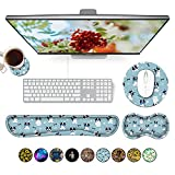 Gaming Keyboard Wrist Pad & Mouse Wrist Rest Cushion Support Padded Memory Foam Combo Set – Durable Ergonomic Non-Slip Base for Computer Laptop Office Accessories, French Bulldogs Pattern