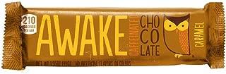 Awake Caffeinated Chocolate Energy Bar, Caramel, 12 Count