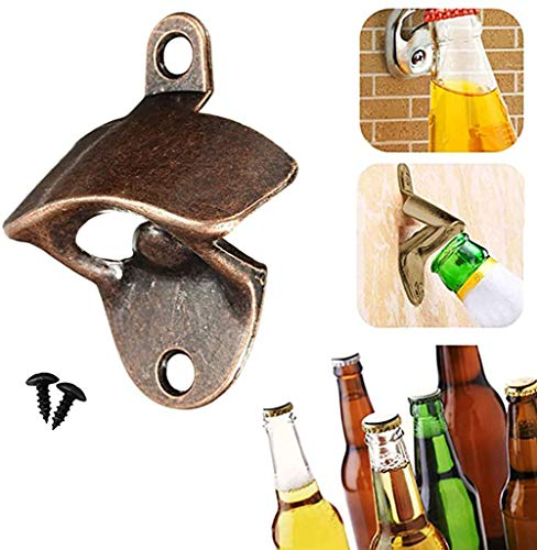 Retro Wall-Mounted Beer Opener Retro Heavy Cast Iron Suitable for Bars And Kitchens