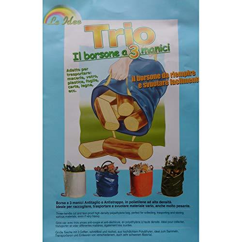 Jardiaffaires Sac à déchets 3 poignées 45 x 100 cm polyéthylène Haute densité