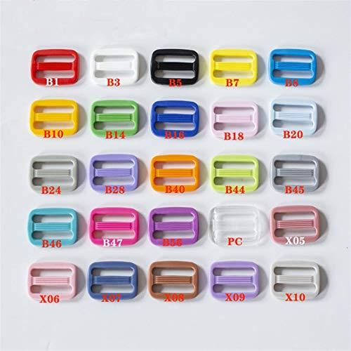 KGDUYH Hebilla de ajuste deslizante deslizante 50 unids 20/25mm Color plástico deslizante hebillas ajustables para correas equipaje zapatos ropa correas accesorios accesorios de cierre pesado