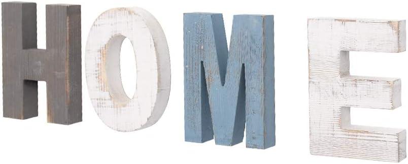 AZL1 Life Concept Rustic Wood Home Sign, Decorative Wooden Block
