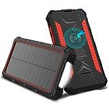 OUTXE Powerbank Wireless Charger Solar Ladegerät 10000mAh Tragbares Kabellose Qi