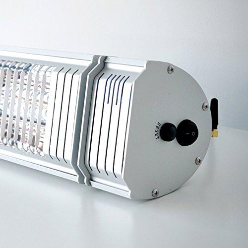 VASNER Infrarot Heizstrahler Appino 20 silber, 2000 Watt, Terrassenstrahler + Fernbedienung + Bluetooth App Steuerung, Infrarotstrahler Terrasse außen, elektrisch - 3