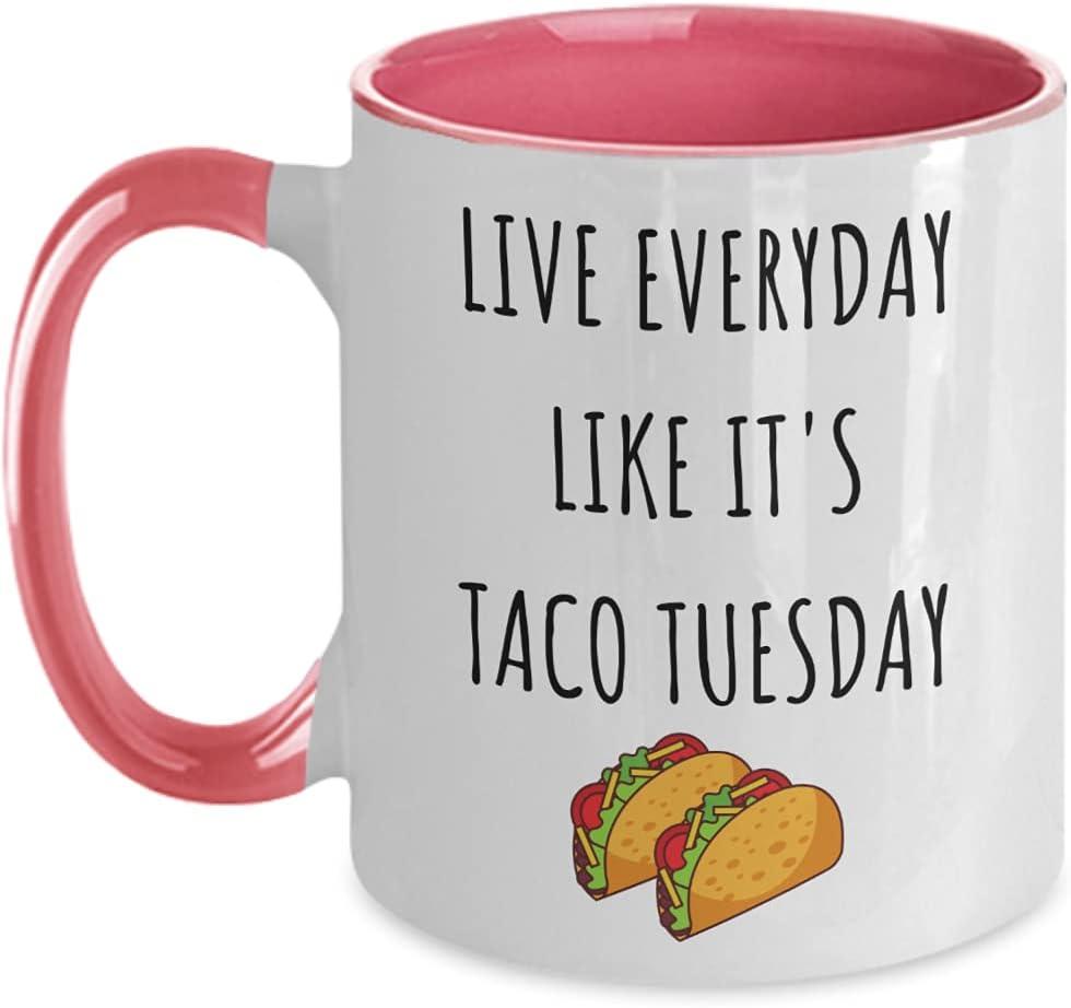 Taco Tuesday Max 76% OFF Mug sale Two Toned Cup Coffee Tuesda