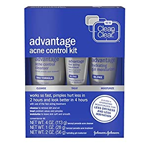 Acne treatment products Clean & Clear Advantage Acne Control Kit with Benzoyl Peroxide, Includes Daily
