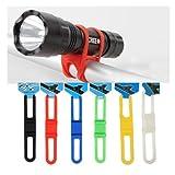 Linternas para bicicleta con cinta de silicona, incluye 5 unidades