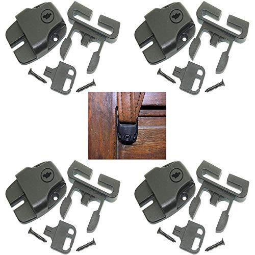 Pmsanzay Juego de 4 piezas para spa de jacuzzi, kit de reparación de pestillo roto con llaves y accesorios para jacuzzis y otros
