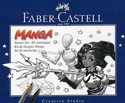 Faber-Castell 167136 - Pack Manga Starter Set, estuche de iniciación, incluye...