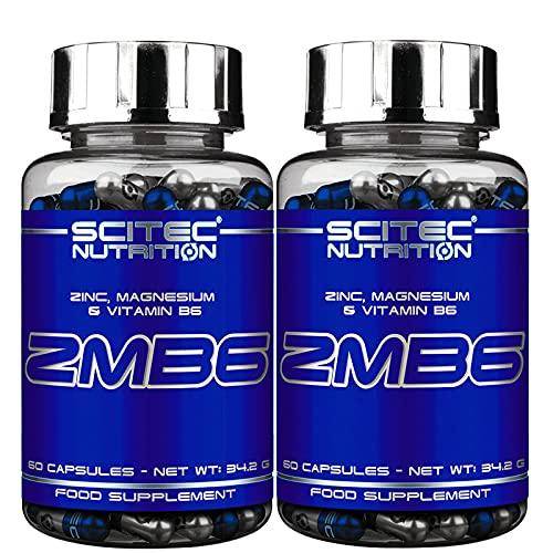 ZMB6   Estimulante de testosterona y ayuda para dormir - Zinc Magnesio VitB6   Mineral Anabólico ZMA (120 Cápsulas)