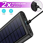 Solar Power Bank 26800mAh, HETP 【2020 Newest Solar Portable Charger】 Portable Charger External Backup Battery Pack with… 7